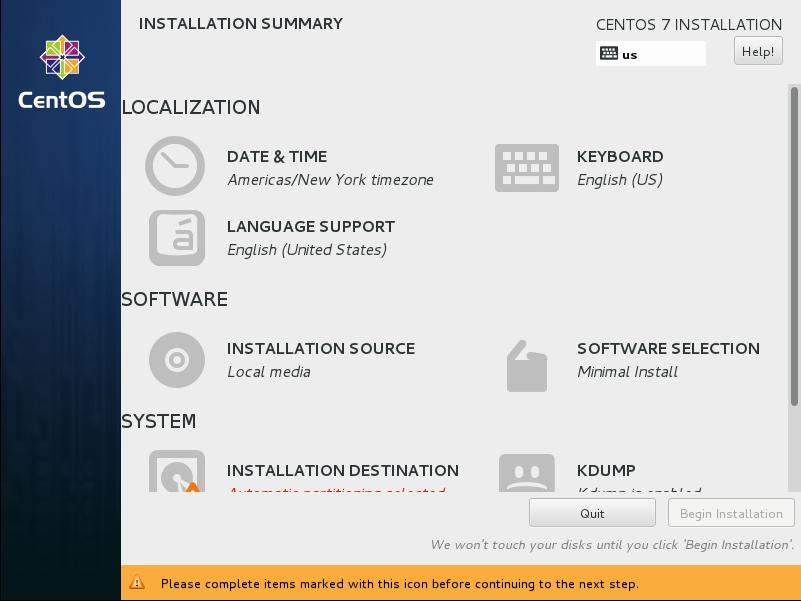 CentOS7 安装和部分设置参考 - 第2张    我的系统记录