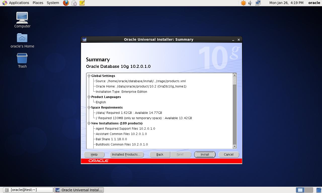 CentOS 6.4 64bit 安装Oracle 10G 详解 - 第27张  | 我的系统记录